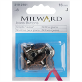 Milward Jeans Buttons Copper: 8 Pieces