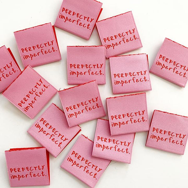 "Kylie and the Machine: ""Perfectly Imperfect"" Woven Labels - Pack of 8"