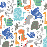 Dashwood Studio Fabric: Playtime Play 1391 - Blue Dinosaurs on White
