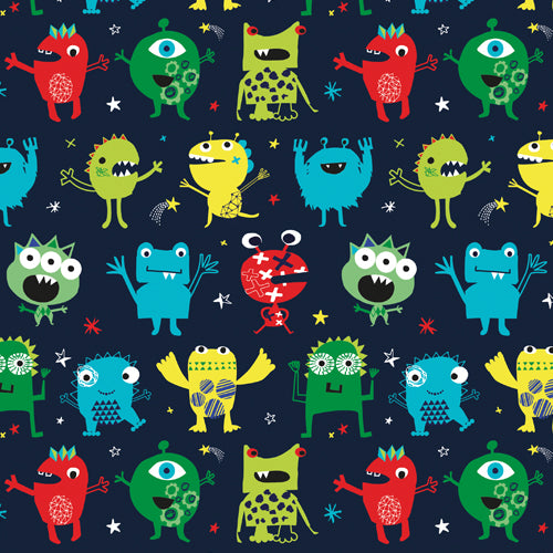 Dashwood Studio: Playtime Monsters Aliens Play 1393 Fabric