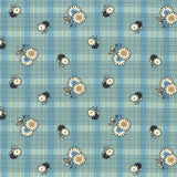 Freespirit Fabric: Denyse Schmidt - Winter Walk Floral Plaid Stream