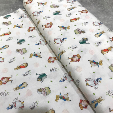Craft Cotton Company: Peter Rabbit Fabric - All Characters