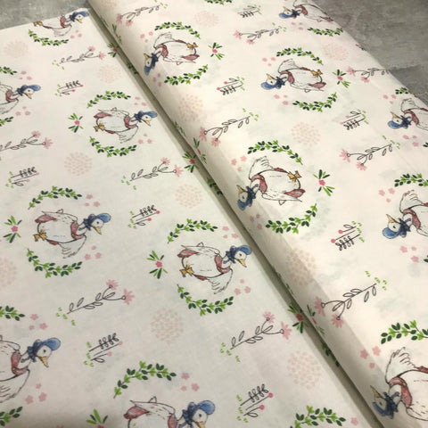 Craft Cotton Company: Peter Rabbit Fabric - Jemima Puddleduck