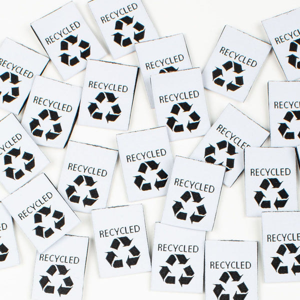 "Kylie and the Machine: ""Recycled"" Woven Labels - Pack of 8"