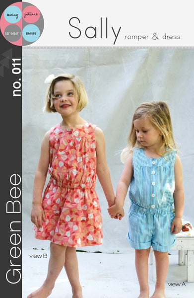 Green Bee: Sally Romper & Dress Pattern
