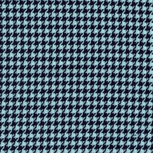 Polyester/Viscose Print - Small Dogtooth Turquoise/Black