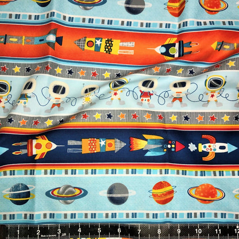 Studio E Fabrics: Space Adventure - Space Stripe