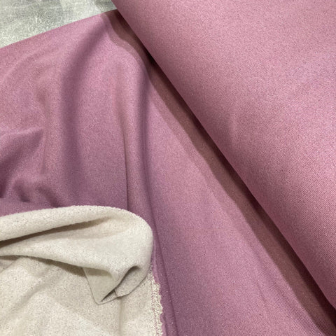 Lilac Purple Lurex Sweatshirt Fabric