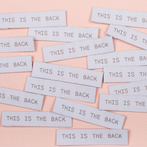 "Kylie and the Machine: ""This is the Back"" Woven Labels - Pack of 8"