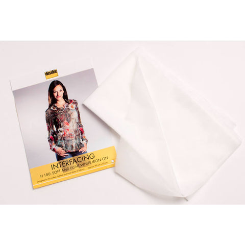 Vlieseline H180 Interfacing - Soft and Light - White (Iron On)