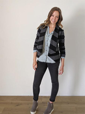 Hey June Handmade: The Evans Blazer Sewing Pattern (PDF Only)