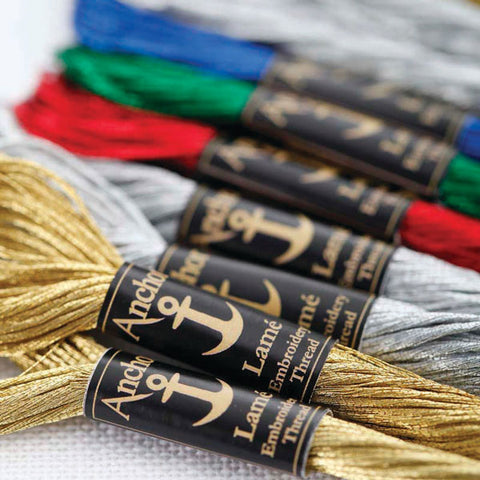 Anchor Lame Metallic Embroidery Thread: 8m Skein
