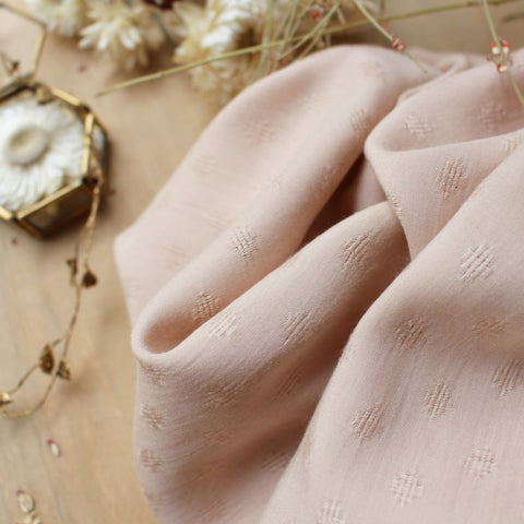 Atelier Brunette: Diamond Blush Fabric