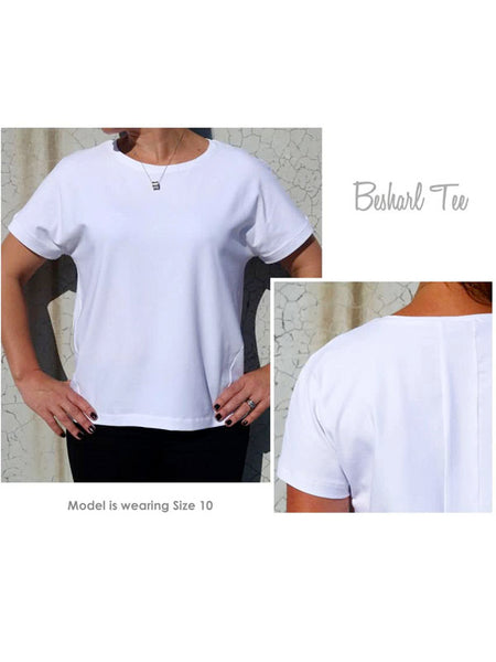 Style Arc: Besharl Knit Tee Sewing Pattern