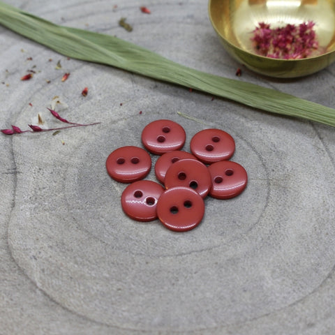 Atelier Brunette Classic Shine Buttons Terracotta 12mm