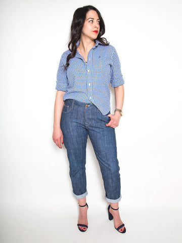 Closet Core Patterns: Morgan Boyfriend Jeans Sewing Pattern