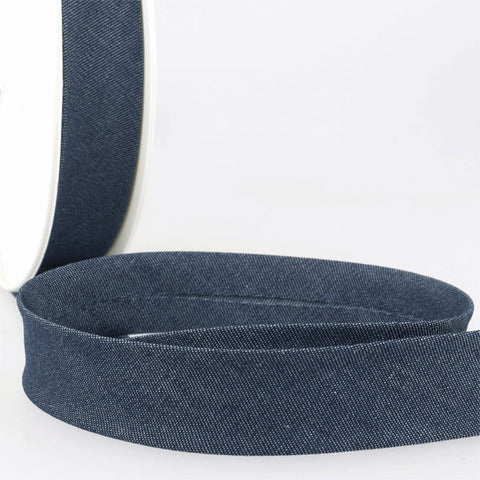 Cotton Denim Bias Binding: 20mm