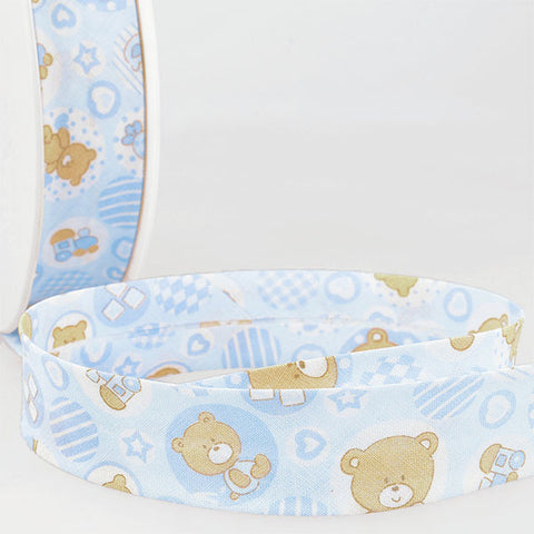 Cotton Teddy Bears Bias Binding: 25mm