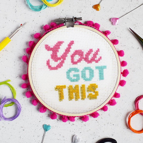 "The Make Arcade: ""You Got This"" Cross Stitch Kit"