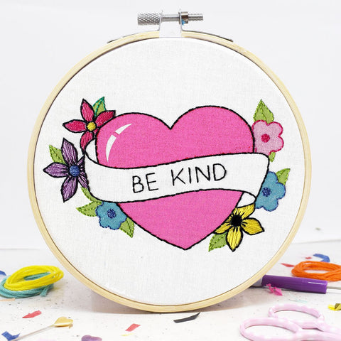 The Make Arcade: Be Kind Embroidery Kit