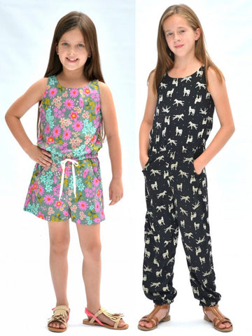 Hey June Handmade: Linville Romper & Dress Sewing Pattern 6-16 yrs (PDF Only)