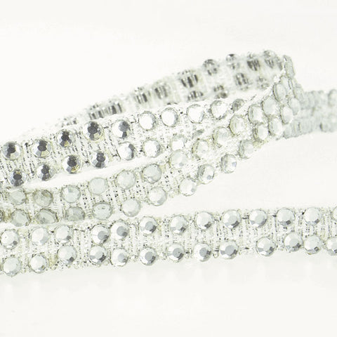 Iron-on Rhinestone Braid Trim: 6mm