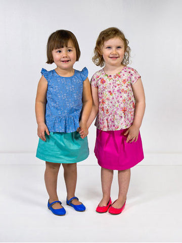 Oliver + S: Butterfly Blouse & Skirt Sewing Pattern