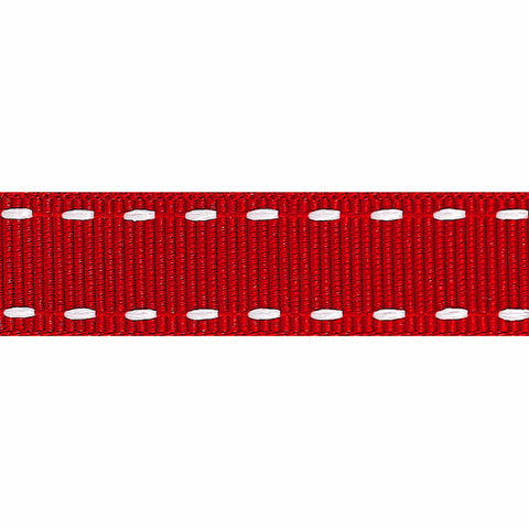Stitched Grosgrain Ribbon: 15mm (4 Colours Available)