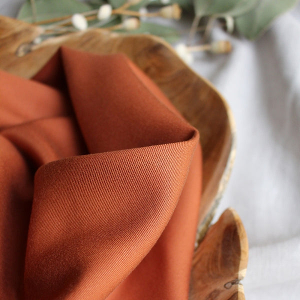 Atelier Brunette Tencel Chestnut Fabric