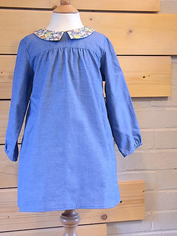 Two Stitches: Edie Blouse & Shirt Dress Sewing Pattern