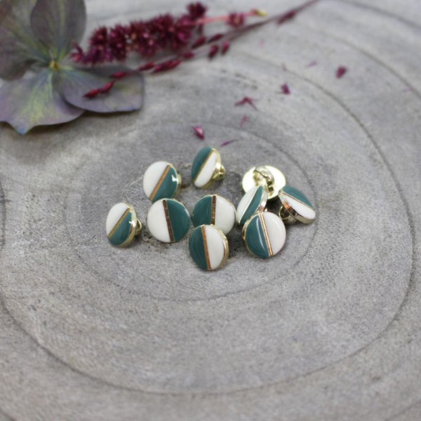Atelier Brunette Wink Buttons Off White/Cactus 9mm