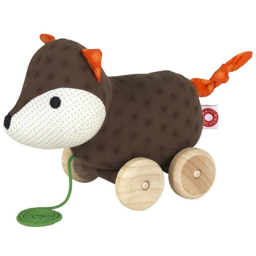 Pull-Along Plush Soft Woodland Animal Fox by Franck Fischer