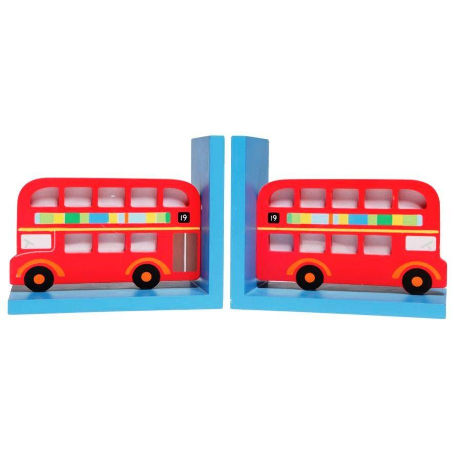 London Bus Wooden Decorative Bookends
