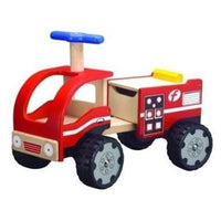 Eco Friendly Wooden Fire Engine Ride On by Wonderworld