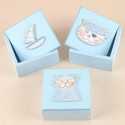 Set of 3 Pirate Trinket Boxes