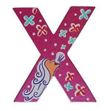 Pink Wooden Fairytale Letter - X