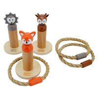 Woodland Animals Natural Hoopla Ring Toss Game