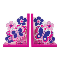 Fair Trade Pink Butterfly Bookends by Lanka Kade