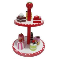 Wooden Play Food Stand of Posh Pastries by MaMaMeMo