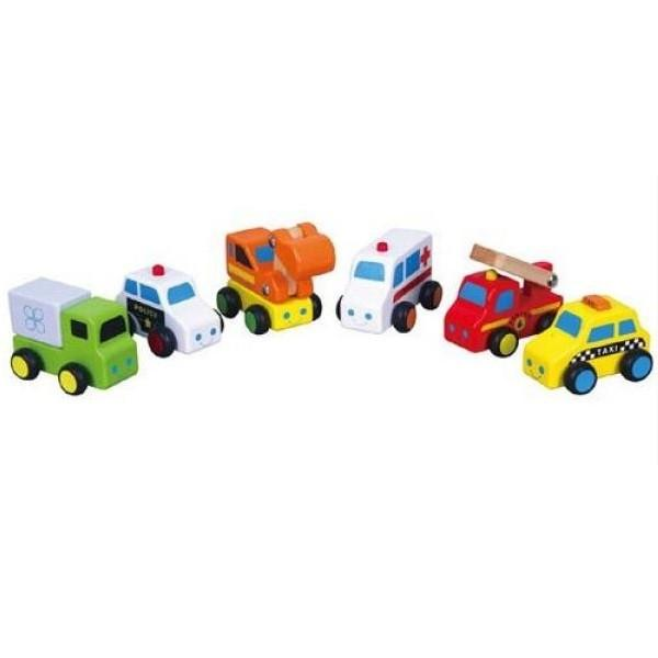 Set of 6 First Mini Vehicles by Viga