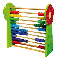 Childrens Wooden Giant Flower Beaded Maths Abacus