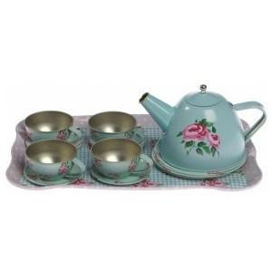 Childrens Blue Rose Tea Set