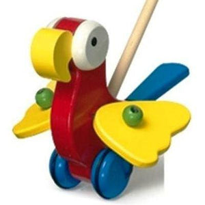 Wooden Push-Along Parrot