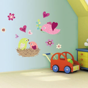 Childrens Bedroom Birds Nest Wall Art Stickers