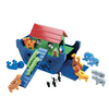 Fair Trade Wooden Blue Noah's Ark Toy with Animals