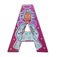 Pink Wooden Fairytale Letter - A