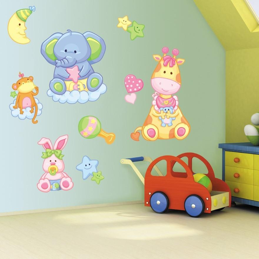 Childrens Bedroom Baby Animals Wall Art Stickers