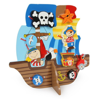 Wooden Threading Pirate Ship