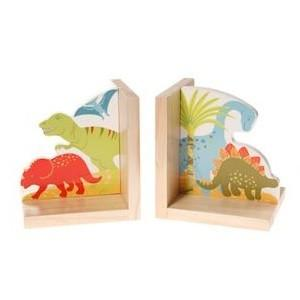 Dinosaur Natural Wooden Decorative Bookends