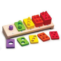 Eco Friendly 1-5 Wooden Stacker by Wonderworld